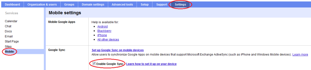 Google Apps and Mobile Phones (3/3)