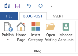 Publishing to your Blog from Word (2/2)