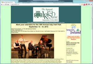 Indy Irish Fest's Old Home Page