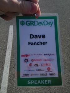 GR DevDay Speaker Badge